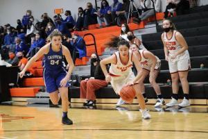 Dalton varsity girls basketball Nov. 25 double OT win against Chippewa 59-58 (Photos by Amber Doty | For The DGKN