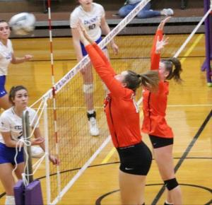 Dalton volleyball at state semifinals Nov. 14, 2020 in Vandalia (Photos provided by Amber Doty)